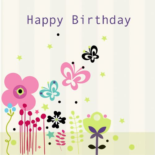 Happy Birthday Card - White